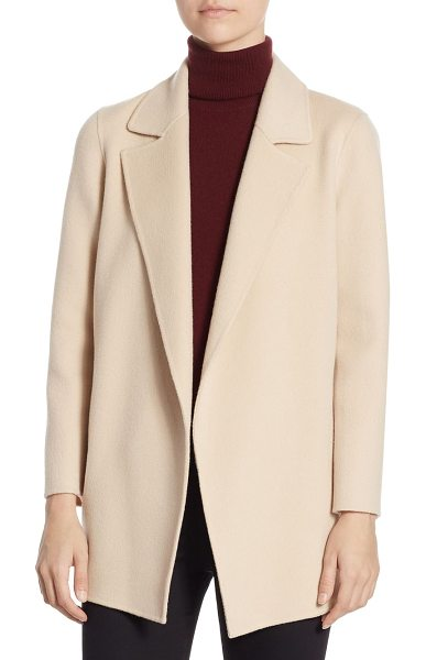 Theory clairene jacket in pink ivory - Wool-blend jacket featuring a textured finish. Notch...