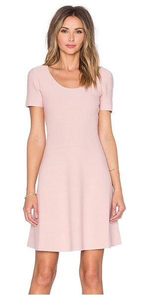Theory Codris dress in blush - 84% viscose 9% poly 7% spandex. Dry clean only. Unlined....