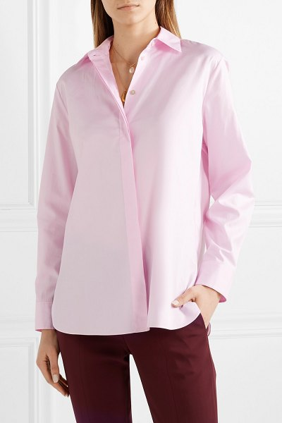 Theory cotton-poplin shirt in pastel pink - Theory's Creative Director Francesco Fucci is all about...