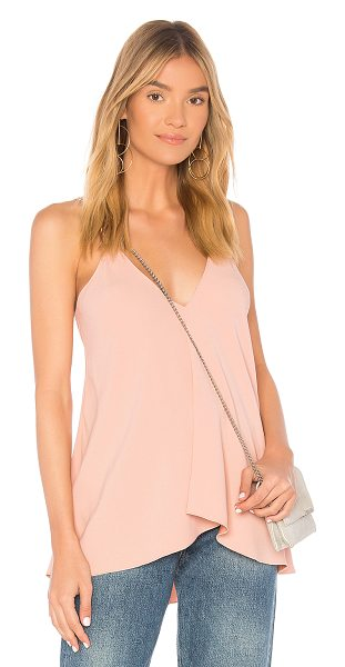 Theory Draped Cami Tank in pink - Poly blend. Dry clean only. Asymmetrical hem....