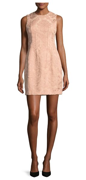 Theory Hourglass Baroque Jacquard Sleeveless Hourglass Dress in pink