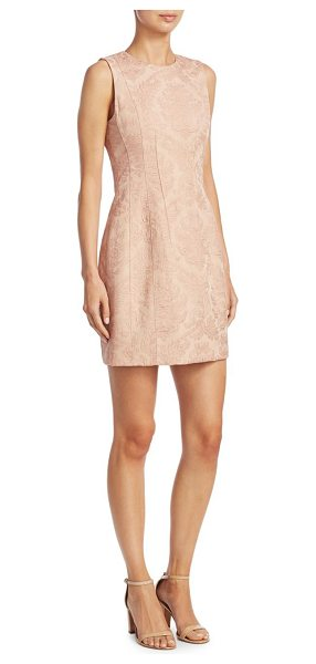 Theory hourglass jacquard dress in pink - Patterned jacquard dress in sleeveless silhouette....