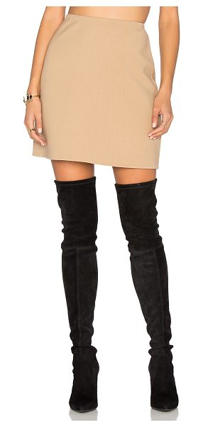 Theory Irenah Skirt in tan - 97% virgin wool 3% elastane. Dry clean only. Unlined....
