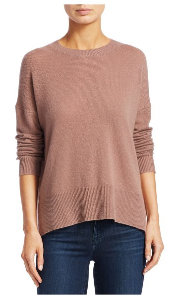 Theory karenia cashmere knit top in mauve mist - A must-have wardrobe staple, this classic knit is...