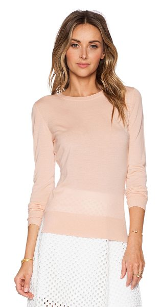 Theory Kralla sweater in peach - 100% merino wool. Dry clean only. THEO-WK123. F0011721....