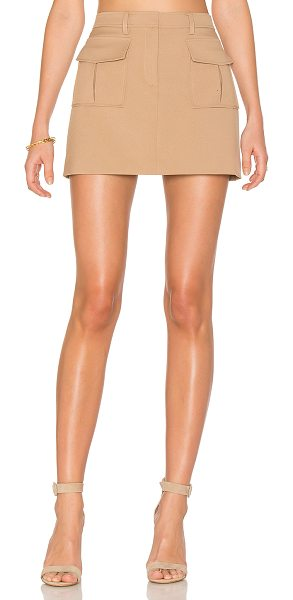 Theory Lupah Skirt in tan - Self: 100% polyLining: 94% poly 6% polyurethane. Dry...