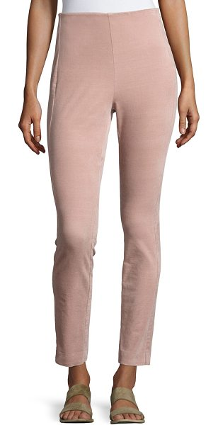 "Theory Navalane High-Waist Velvet Pants in pink - Theory ""Navalane"" pants in Casual Velvet. Approx. 28.5""..."