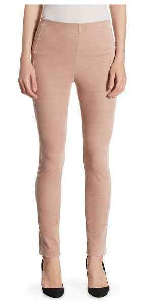 Theory navalane tonal leggings in stonepink - High-waisted cotton-blend leggings with back zip....
