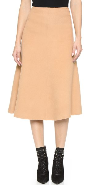 Theory New divide uthema skirt in camel - An A line Theory skirt with rich, brushed texture....