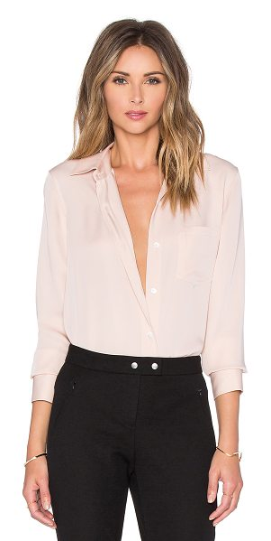 Theory Nijee button up in blush - 100% silk. Dry clean only. Front button closure. Chest...