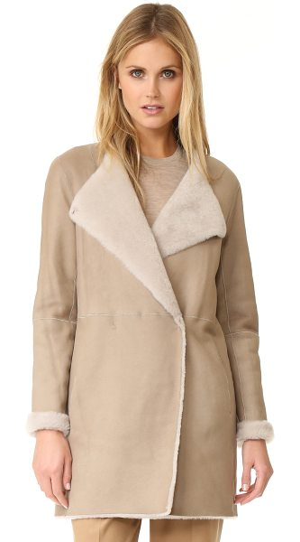 THEORY nyma f reversible coat - A reversible Theory coat made from cozy shearling....