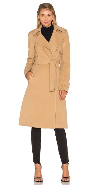 THEORY Oaklane Trench Coat - Wool blend. Dry clean only. Waist tie front closure....