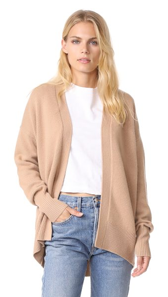 Theory oversized cashmere cardigan in camel - This effortless cashmere Theory cardigan has an open...