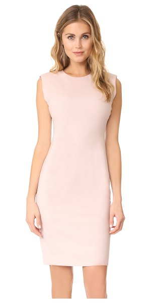 Theory power dress in pink clay - A sophisticated Theory sheath dress with raised seams...
