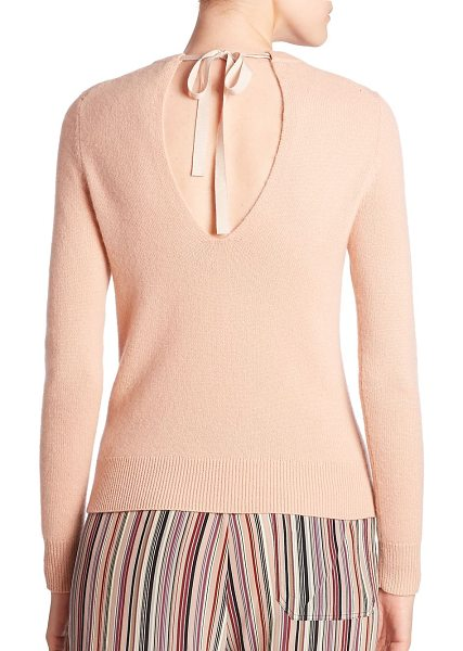 Theory salomina cashmere top in pale rose - Sleek cashmere top with tie back closure. Crewneck. Long...