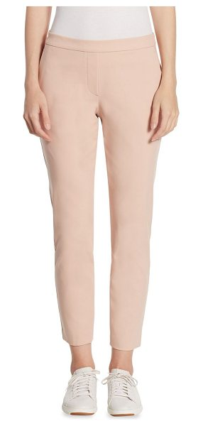 THEORY thaniel pants - Pants constructed of cotton-blend fabric. Banded waist....