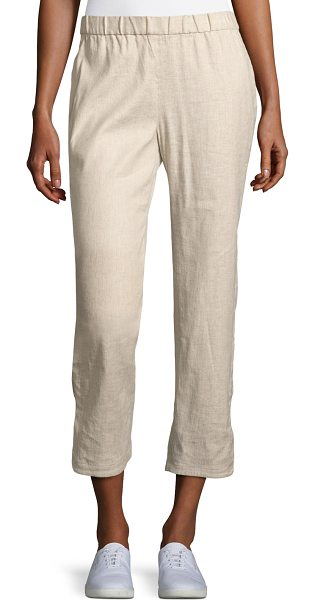 Theory Thorina Tierra Wash Cropped Pants in beige
