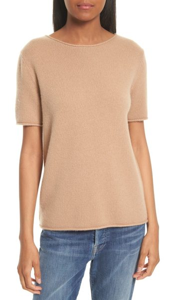 Theory tolleree cashmere sweater in camel - Finely knit cashmere is crafted into a sumptuously soft...