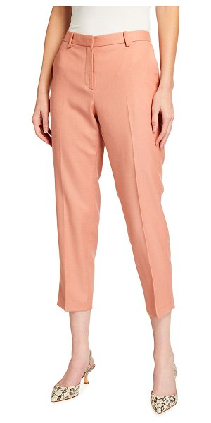 Theory Treeca Flannel Cropped Pants in blossom melange