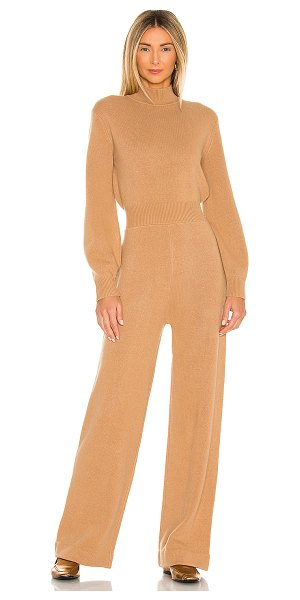 Theory turtleneck jumpsuit in medium camel