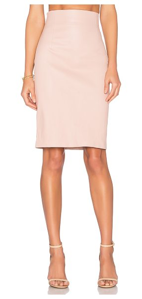 ThePerfext Amsterdam Skirt in pink - 100% stretch leather. Clean by leather specialist only....