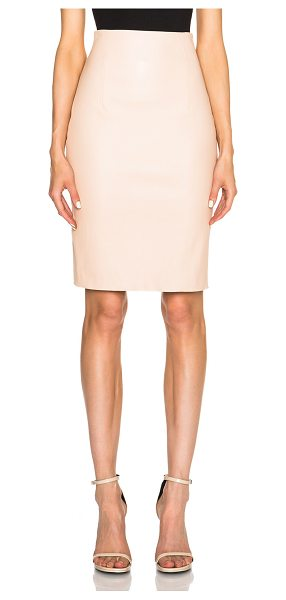ThePerfext Amsterdam stretch leather skirt in neutrals - ThePerfext is a collaboration between Elyse Walker and...