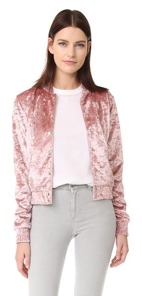 ThePerfext bomber jacket in pink - Crushed velvet brings retro style to this ThePerfext...