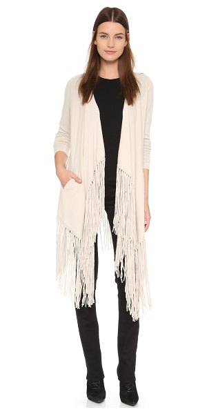 THEPERFEXT Cashmere clinton cardigan - Dramatic fringe trims the hem of this cashmere...