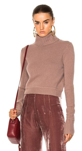 ThePerfext Grace Turtleneck Sweater in rose - 100% cashmere. Made in China. Dry clean only. Knit...