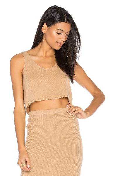 THEPERFEXT Kendall Tank - 100% cashmere. Dry clean only. Rib knit fabric....