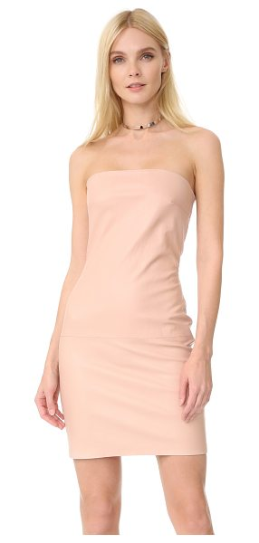 ThePerfext leather dress in pink - A strapless ThePerfext dress in slick stretch leather. A...