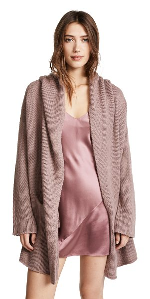 ThePerfext collette cozy long sweater in rose - Fabric: Soft, purled knit Open placket Dropped shoulders...
