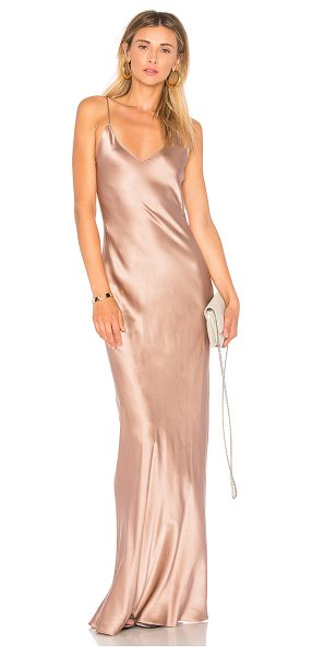 ThePerfext Sarah Dress in rose - 100% silk. Unlined. Dry clean only. Adjustable shoulder...