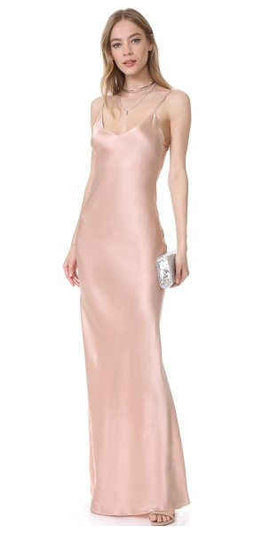 ThePerfext slip dress in pink - A simply luxe ThePerfext slip dress in a maxi length. V...