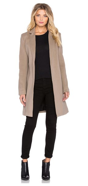 ThePerfext Soho coat in taupe - Shell: 75% virgin wool 20% polyamide 5% cashmereLining:...