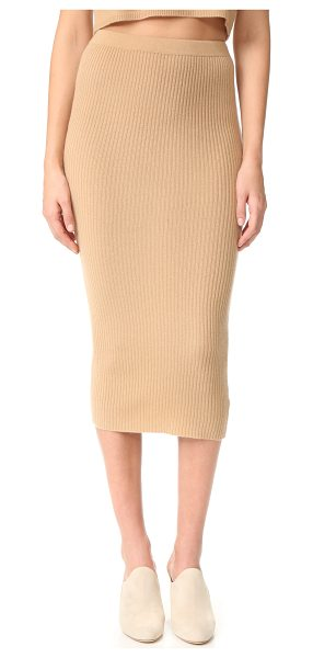 THEPERFEXT cashmere skirt - A cashmere ThePerfext skirt in a formfitting silhouette....