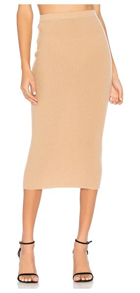 ThePerfext Victoria Skirt in honey - 100% cashmere. Dry clean only. Rib knit fabric....