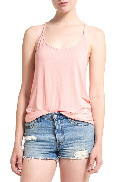 THIEVES LIKE US racerback tank in nude - A silky jersey tank with the perfect amount of slouch...
