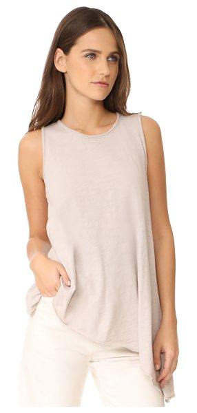 Three Dots asymmetrical tank in beige sand