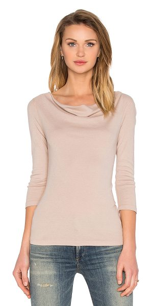 Three Dots Nancy cowl neck top in tan - 50% cotton 50% modal. THRR-WS79. AJ4L214. Three Dots is...