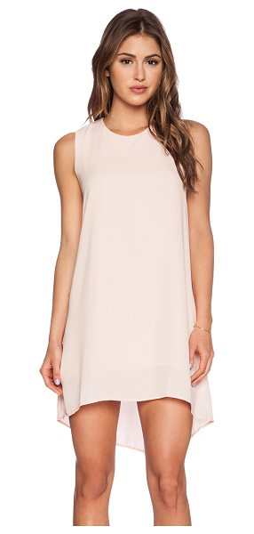 Three Eighty Two Haider tank dress in pink - 100% poly. Fully lined. Back button closure with keyhole...