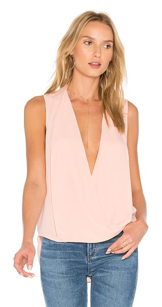 THREE EIGHTY TWO Monroe Surplice Tank - 100% poly. Surplice front with button closure....