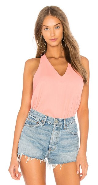Three Eighty Two Owen Tank in coral - 100% poly. Curved hem. TEIG-WS129. TR 036. THREE EIGHTY...