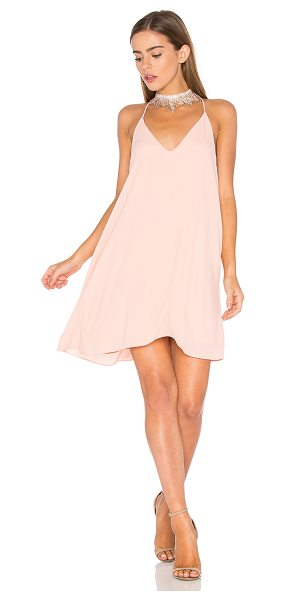 Three Eighty Two Tanner Slip Dress in peony - 100% poly. Fully lined. TEIG-WD60. TR 060. THREE EIGHTY...