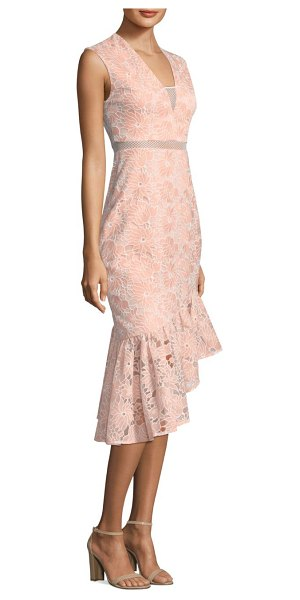 Three Floor frill in me trumpet dress in peach fuzz - EXCLUSIVELY AT SAKS FIFTH AVENUE. From the Resort...