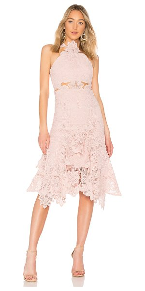 THURLEY Waterlilly Midi Dress in blush - Self, Lining & Trim: 100% poly. Dry clean only. Fully...