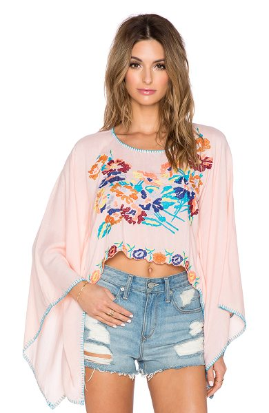 Tiare Hawaii Beliz crop top in peach