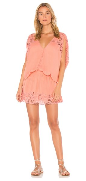 TIARE HAWAII Krawang Dress in pink - 100% rayon. Hand wash cold. Partially lined. Elasticized...