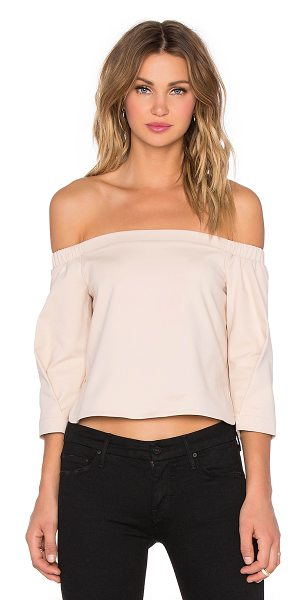 Tibi Agathe off shoulder top in blush