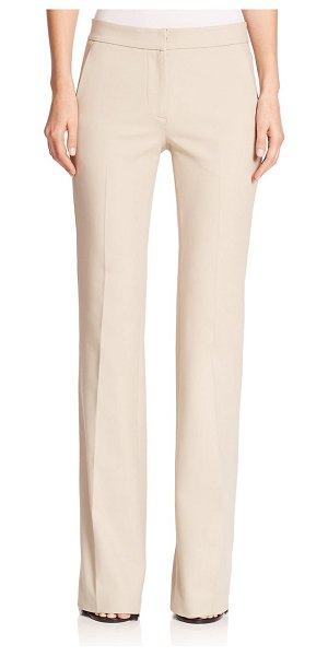 TIBI anson wide-leg stretch trousers - A polished, leg-lengthening wide-leg pair with a rouch...